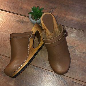 Shoes - Beautiful Sanita wood clogs. New without box.